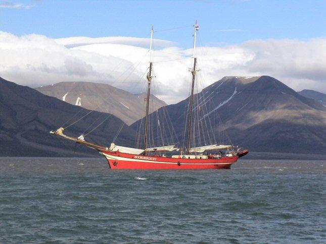 masten er ikke rett seilbåt